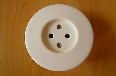 Old Round White Socket Plastic Flush Retro Loft for Old
