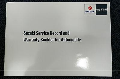 NEW Genuine Suzuki CAR Service Book Record 12,500 Mile Servicing 99000-99004-SMC