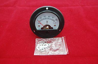 Dc 0-500v Round Analog Voltmeter Voltage Panel Meter Dia. 66.4mm Dh52