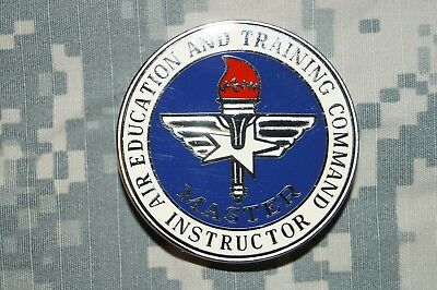 US Air Force Air Education & Training Command MASTER Instructor Metal Pin (Air Force Command Badge)