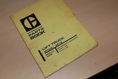 Caterpillar 351s Forklift Truck Spare Parts Manual Book Catalog Towmotor List Oe