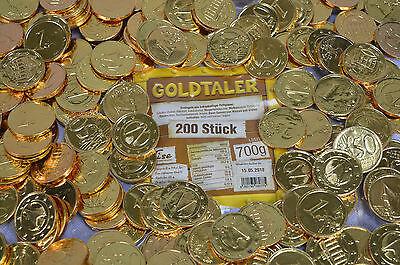 200 STÜCK GOLDTALER TALER SCHOKOLADE  EUROMÜNZEN PIRATENGOLD GOLDMÜNZEN 0,70 KG ()