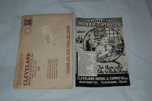 ORIGINAL CLEVELAND HOBBY CATALOG 1937 ORIGINAL ENVELOPE 3 CENT WASHINGTON STAMP