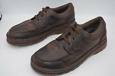 Dr Martens Maddock AW004 Brown 3-Eye Lace Up Oxford Moc Toe Casual Shoes Size 12 3 Eye Moc