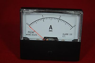 Dc 3a Analog Ammeter Panel Amp Current Meter Dc 0-3a 6070mm Directly Connect