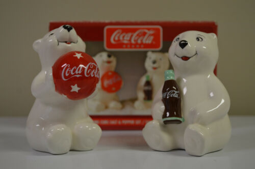 Everyday Gibson Coca-Cola Brand Playtime Cubs Salt & Pepper Set