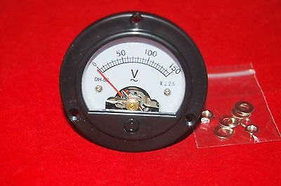 Ac 0-150v Analog Voltmeter Analogue Volage Panel Meter Dia. 66.4mm Dh52