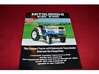 10 LCOH Mitsubishi MT180H MT180HD Tractor Dealer/'s Brochure 84-8