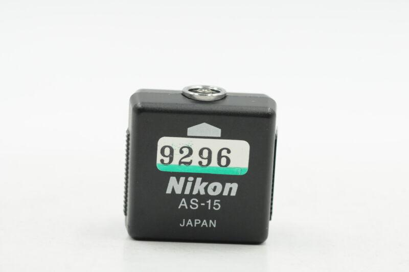 Nikon AS-15 Sync Terminal Adapter Hot Shoe to PC #296