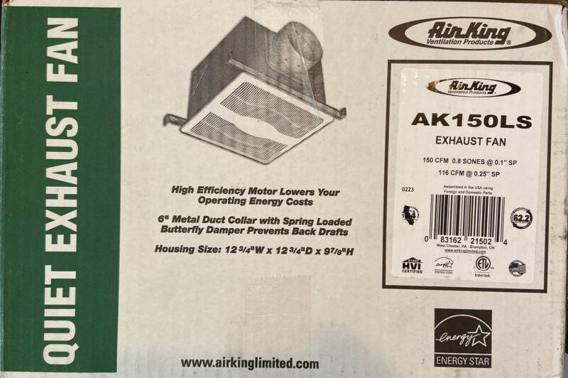Air King Quiet Zone 150 CFM Ceiling Bathroom Exhaust Fan AK150LS