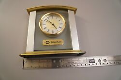 Fire Place Mantle Clock, Not Digital, Metal Construction Quartz.