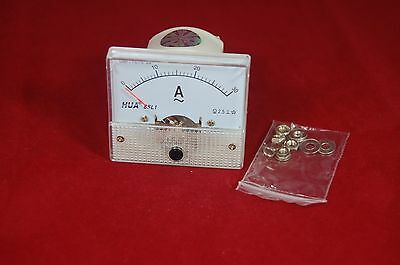 Ac 30a Analog Ammeter Panel Amp Current Meter 85c1 0-30a Ac Directly Connected