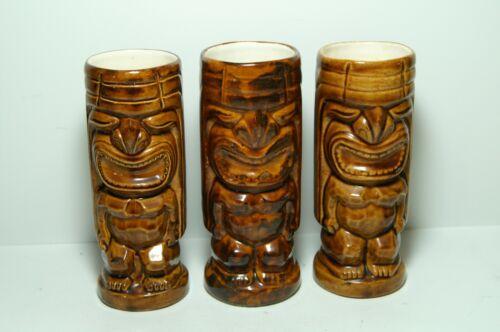 Set of 3 Polynesian Tiki Mugs