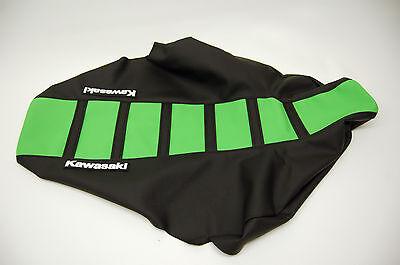 """New Green and Black Ribbed """"Kawasaki"""" Seat cover KX250F 2004-05"""