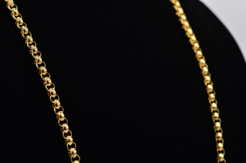 """Monet Signed Vintage Necklace Shiny Gold Linked Heavy Chain Long 36"""" 80s BinG"""