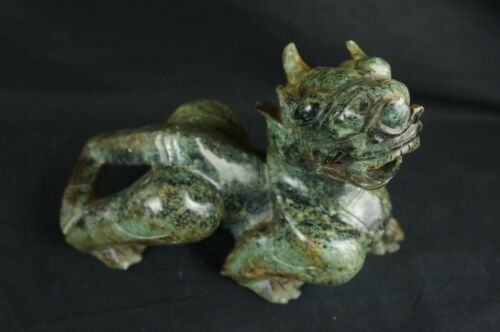 "Huge old chinese carved stone dragon 12"" (#1 of 2)"