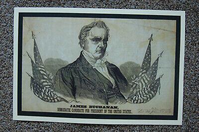 James Buchanan Campaign Poster 1856 - $6.00