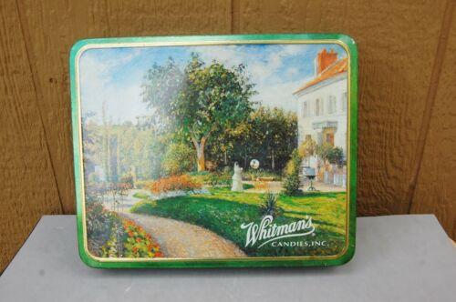 "Whitman Chocolate Tin Metal Box Camille Pissarro Impressionist Painting 10"" x 8"""