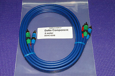 Component Video Cable Gold Plating - High End Tributaries Delta Component Video Cable 2m Gold Plated Connectors NOS