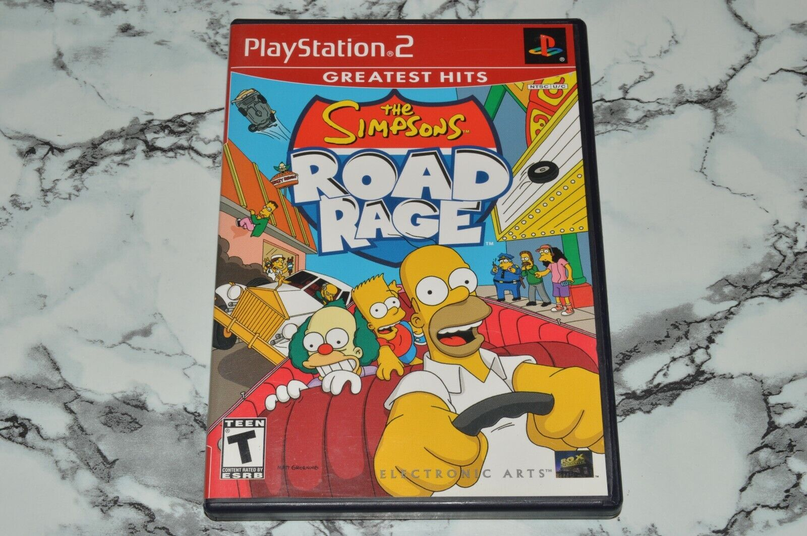 The Simpsons - Road Rage - Greatest Hits Sony PlayStation 2 Complete W/ Manual - $11.18