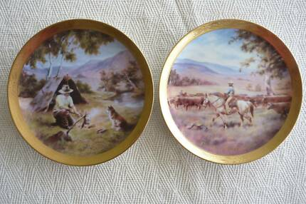 Pair Banjo Paterson's Country Series Plates