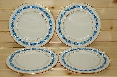 "Castleton Classic Blue (4) Dessert or Bread & Butter Plates 6 1/4"""