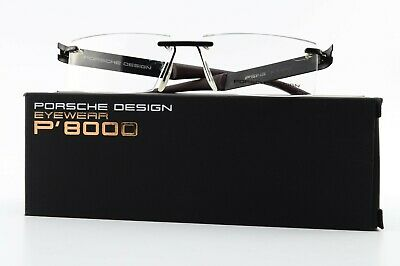 PORSCHE DESIGN Brille P'8143 A 55-13 145 Square Rimless Eyeglasses Black +Case