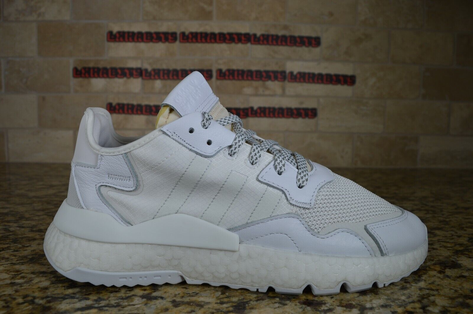 NEW Adidas Nite Jogger Running Shoes Reflective White BD7676 Size 11 Men - $66.00