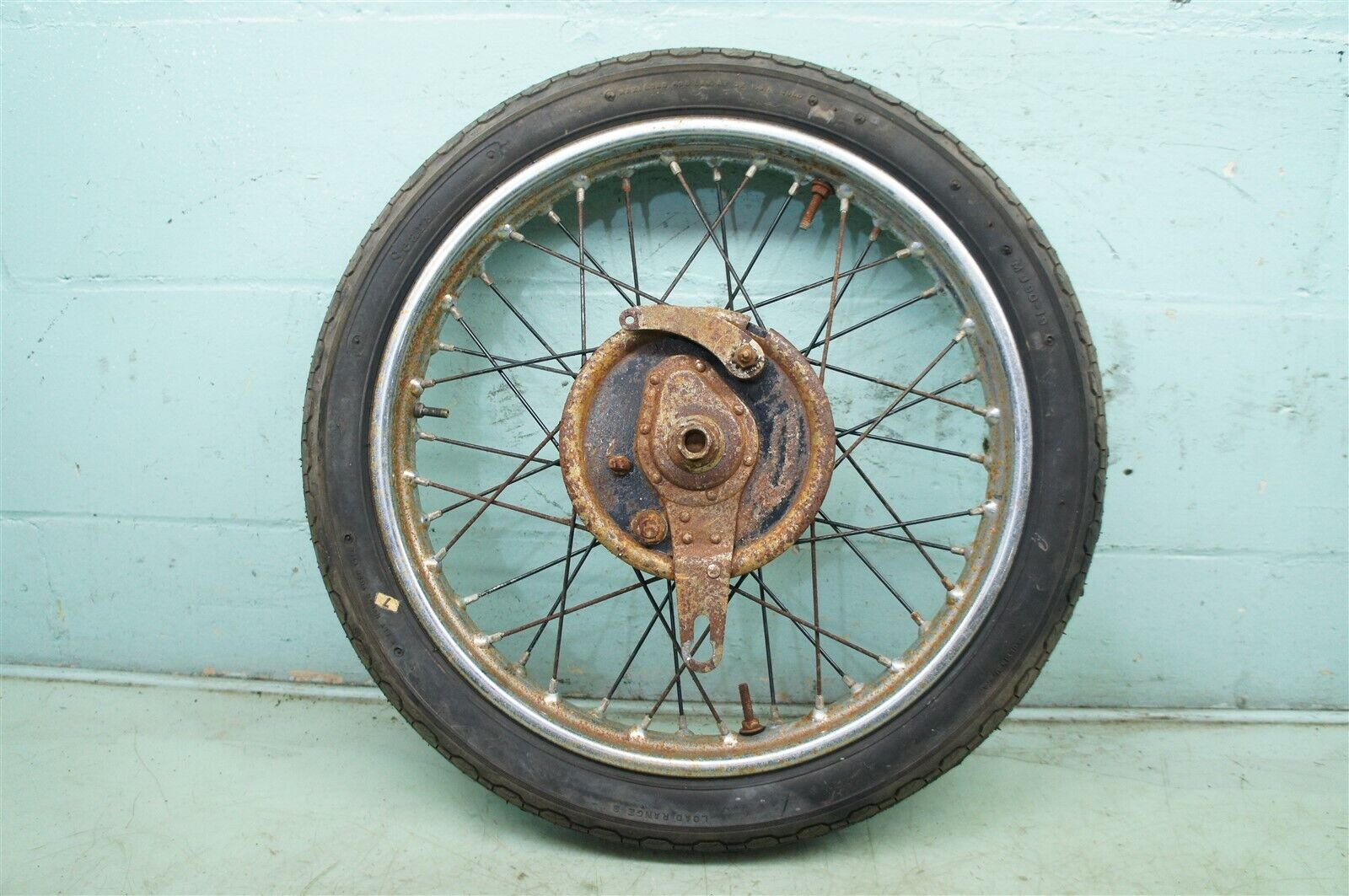 XM20 BSA M20 WM20 WD 500 W.M. W.D. 20 MW21 MILITARY *2189 FRONT RIM BRAKE WHEEL