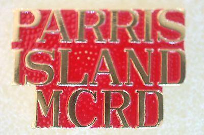 US USA USMC Marine Corps Parris Island MCRD Military Hat Lapel Pin