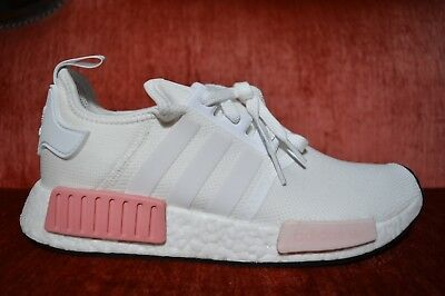 cdebbc9bd6db8 Adidas NMD R1 Originals Nomad Runner White Rose Pink New Women Size 10  BY9952