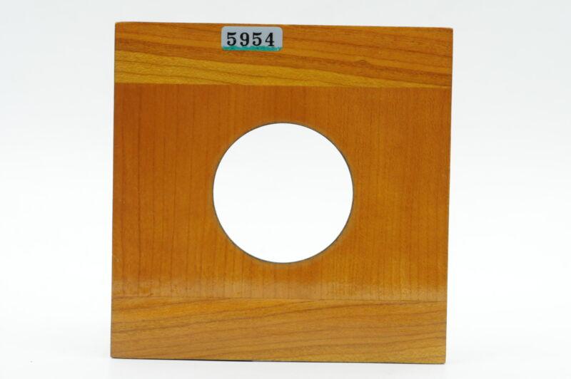 Zone VI 4X4 Mahogany Lens Board, Copal 1 #954