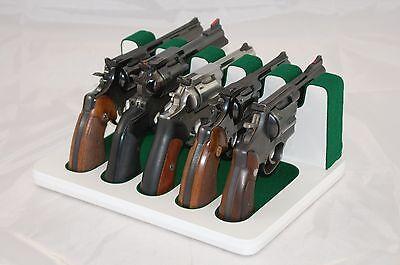 Pistol 5 Gun Rack Stand 504 White Green Cabinet Safe