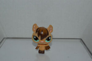 Littlest Pet Shop~#820~Vampire Bat~Fuzzy~Tan Brown~Green Starburst Eyes