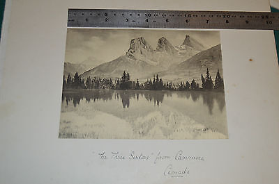 Canadian carded photographs - Kicking Horse Canyon, Canmore, Niagra & Glacier
