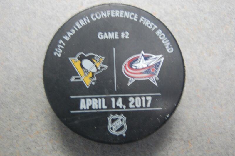 Columbus Blue Jackets Vs. Pittsburgh Penguins 2017 Stanley Cup Playoff Puck