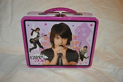 Camp Rock purple Tin Lunch Box Camp Rock Lunch Box