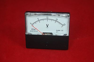 Ac 0-20v Analog Voltmeter Analogue Voltage Panel Meter 6070mm Direct Connect
