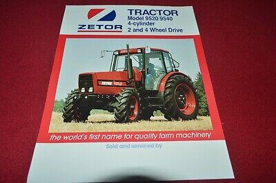 Zetor 9520 9540 Tractor Dealers Brochure CDIL na sprzedaż  Wysyłka do Poland