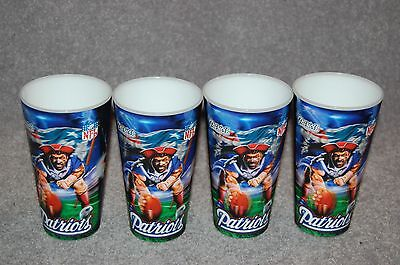 FOUR NEW ENGLAND PATRIOTS NFL FOOTBALL SPORTS 3-D CUPS