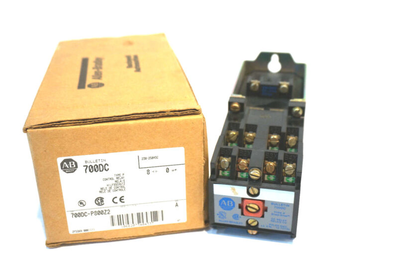 NEW ALLEN BRADLEY 700DC-P800Z2 CONTROL RELAY SER. A 700DCP800Z2
