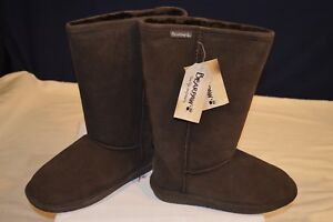 Bearpaw 612 Emma Tall Chocolate Womens Casual Boots Size 8M