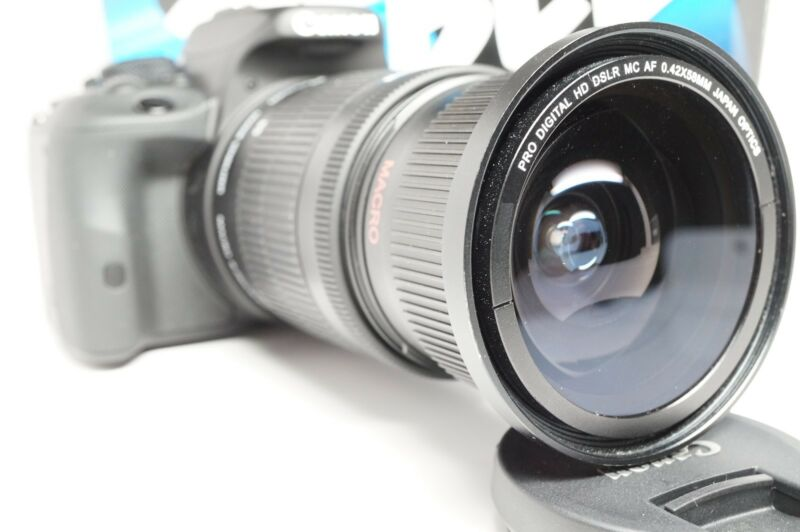 Ultra Wide Angle Macro Fisheye Lens for Canon Eos Digital Rebel  & EF-S 17-85 IS