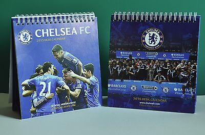 THREE CHELSEA FOOTBALL CLUB DESK TOP CALENDARS FOR 2015, 2016 AND 2017