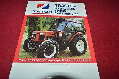 Zetor 4320 4340 Tractor Dealers Brochure CDIL na sprzedaż  Wysyłka do Poland