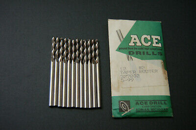 Ace Drill Bits 2 Taper Routers Lot Of 12