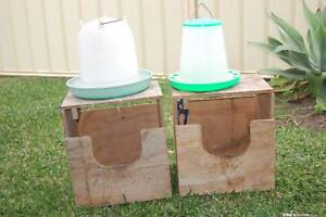 Chook laying boxes & watering containers