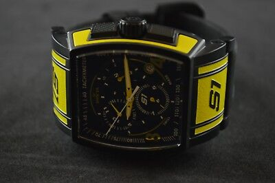 Invicta S1 Rally Touring Edition Chronograph Black Dial Yellow Men's Watch 12786