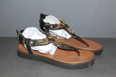 Inuovo Leather Gold Chain Detail Sandals Size 8 42