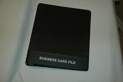 Business Card Holder Binder Clear Sleeves Organizer Book 100 Cards